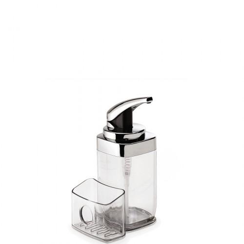 SimpleHuman Dozownik do mydła z pojemnikiem na gąbkę