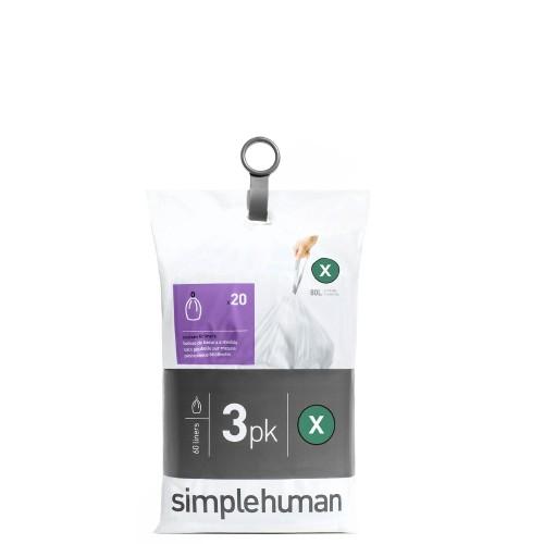 SimpleHuman Simplehuman Worki na śmieci, 60 szt.