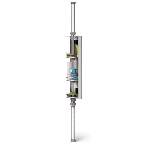 SimpleHuman Spin Cabinet Stojak prysznicowy, regulowany