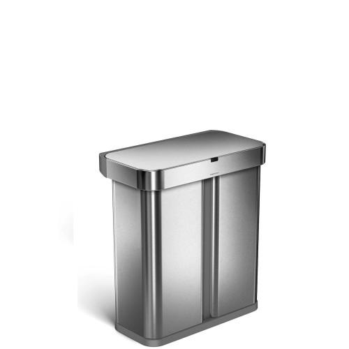 SimpleHuman LINER POCKET Kosz na śmieci z dwoma pojemnkami