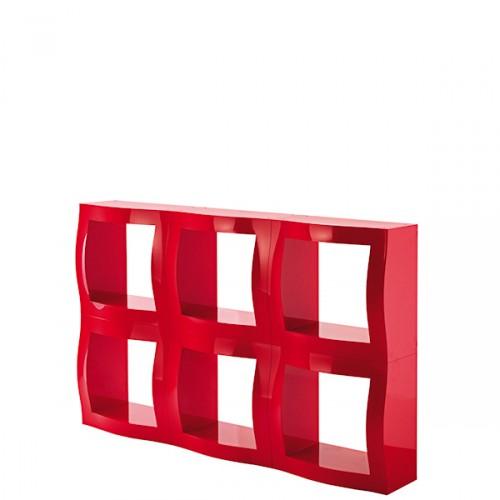 MAGIS Boogie Woogie półka do modułu, kolor czerwony błyszczący