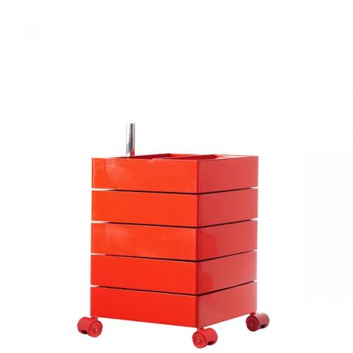 MAGIS 360 Container podręczna szafka z pięcioma szufladami, kolor czerwony