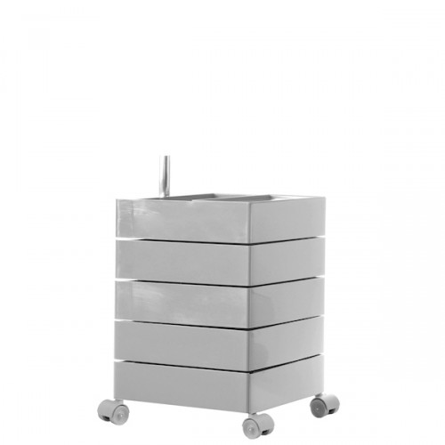 MAGIS 360 Container podręczna szafka z pięcioma szufladami, kolor jasny szary
