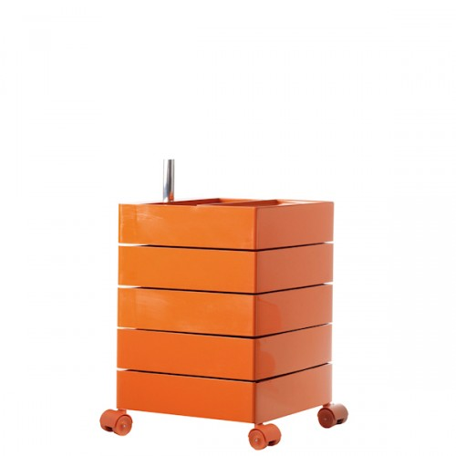 MAGIS 360 Container podręczna szafka z pięcioma szufladami, kolor pomarańczowy