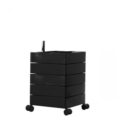 MAGIS 360 Container podręczna szafka z pięcioma szufladami, kolor czarny