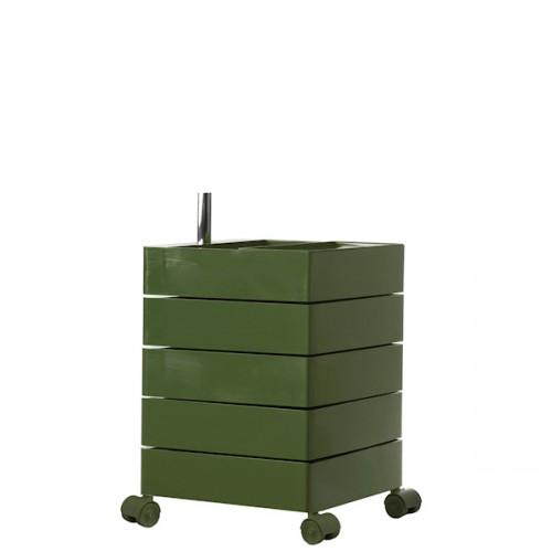 MAGIS 360 Container podręczna szafka z pięcioma szufladami, kolor zgniły zielony