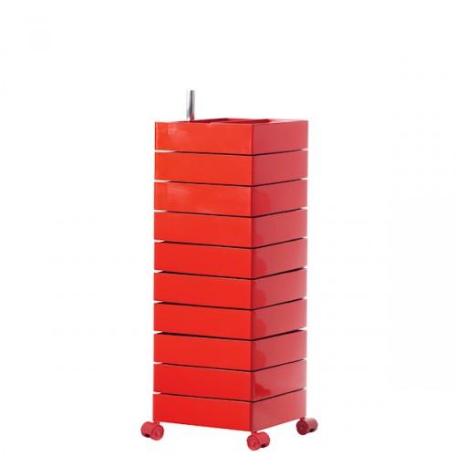MAGIS 360 Container podręczna szafka z szufladami, kolor czerwony