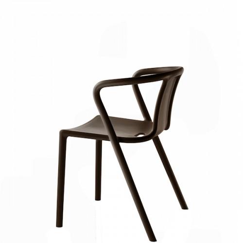 MAGIS Air-Armchair krzesło z podłokietnikami, kolor antracytowy