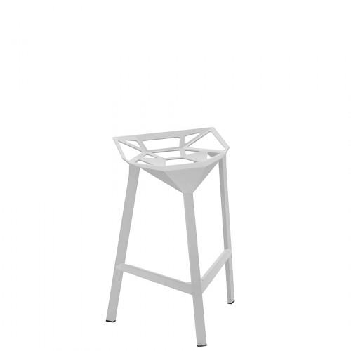 MAGIS Stool One krzesło barowe średnie, kolor biały