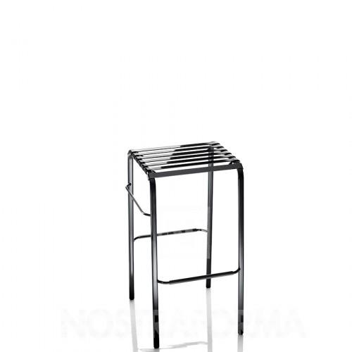 MAGIS Striped Sgabello krzesło barowe, kolor czarne z szarym siedzeniem