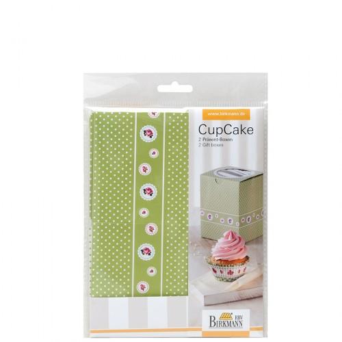 Birkmann Cottage Garden pudełko prezentowe na 1 cupcake 2 szt