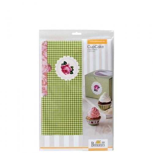 Birkmann Cottage Garden pudełko prezentowe na 4 cupcake 2 szt