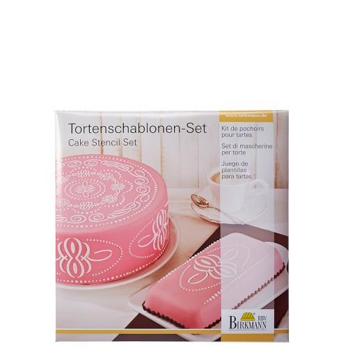Birkmann Pattern szablony do dekoracji tortów i ciast, 2 szt.