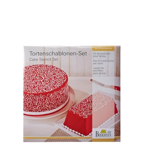 Birkmann Curls szablony do dekoracji tortów i ciast, 2 szt.