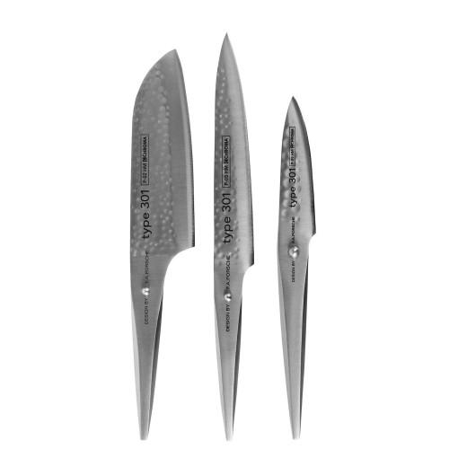 Chroma Type 301 Hammered Zestaw trzech noży