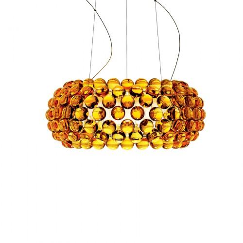 FOSCARINI Caboche lampa wisząca, średnia, kolor żółto-złoty