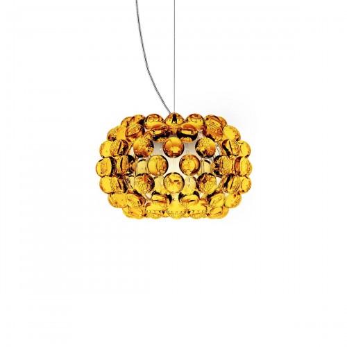 FOSCARINI Caboche lampa wisząca, mała, kolor żółto-złoty