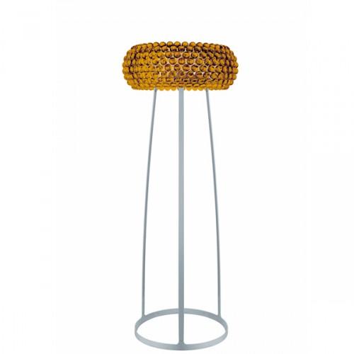 FOSCARINI Caboche large lampa stojąca, duża, kolor żółto-złoty