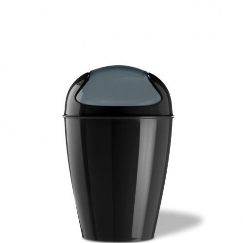 Koziol Del S kosz na śmieci, kolor czarny