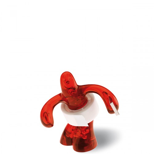 Koziol Elvis podajnik taśmy klejącej, kolor czerwony