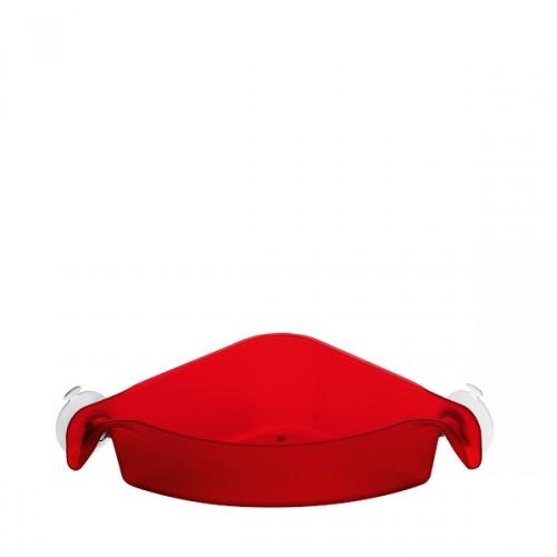 Koziol Boks narożny pojemnik łaziekowy, kolor czerwony
