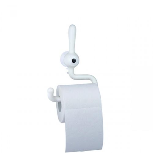 Koziol Toq wieszak na papier toaletowy, kolor biały