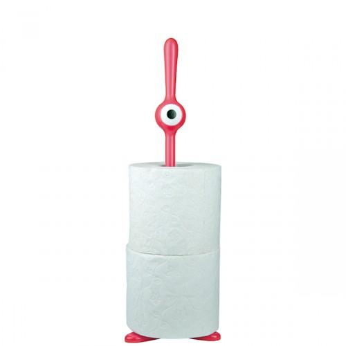 Koziol Toq stojak na papier toaletowy, kolor truskawkowy