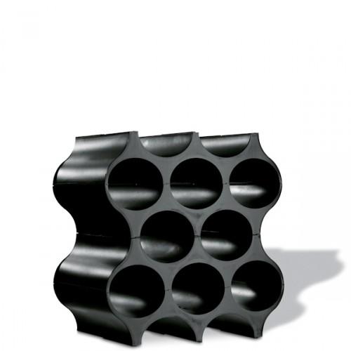 Koziol Set Up stojak na butelki, kolor czarny