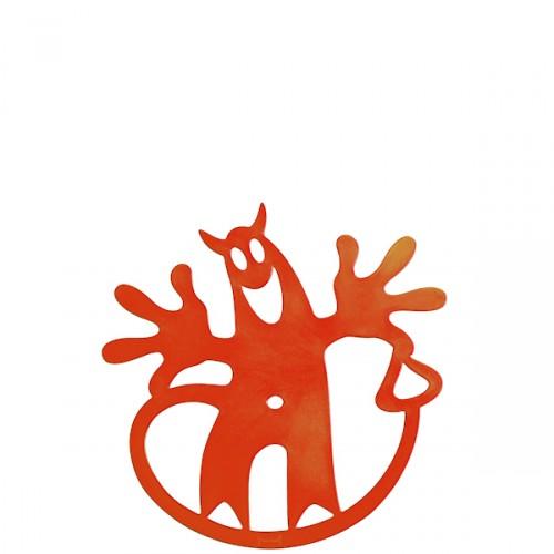 Koziol Hell-O podstawka pod naczynie, pomarańczowa