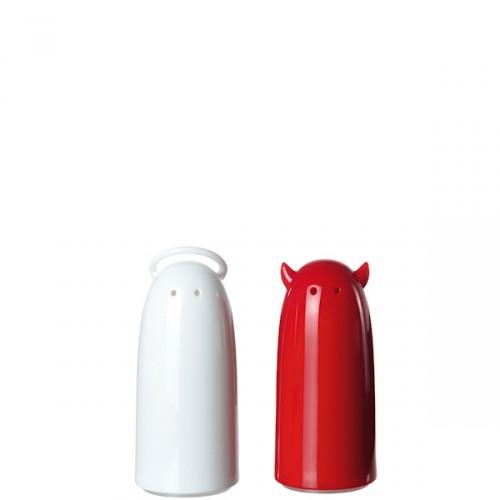 Koziol Spicies zestaw do soli i pieprzu, kolor biało-czerwony