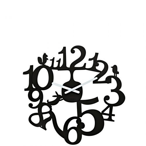 Koziol Pi:P zegar ścienny, kolor czarny