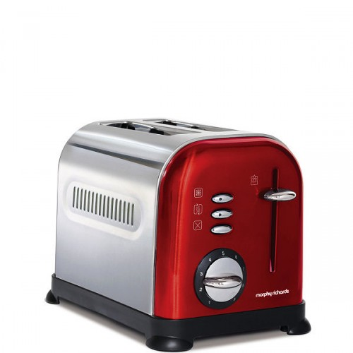Morphy Richards Red Accents toster elektryczny, kolor czerwony