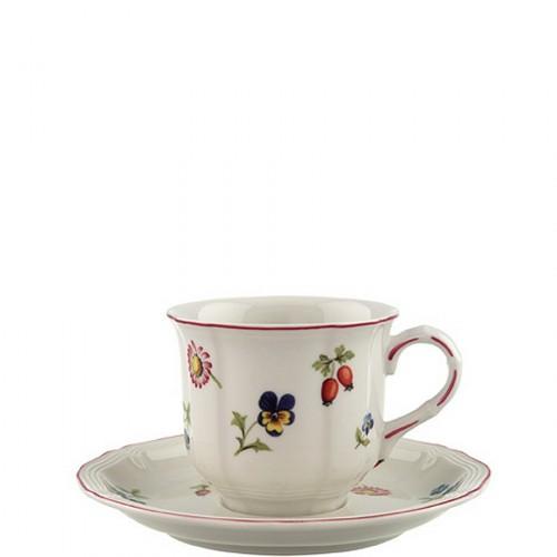 Villeroy & Boch Petite Fleur filiżanka do kawy ze spodkiem