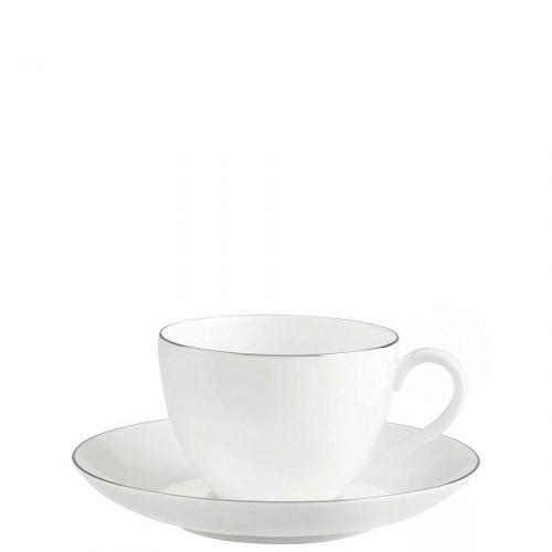 Villeroy & Boch Anmut Platinum filiżanka do kawy ze spodkiem