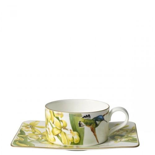 Villeroy & Boch Amazonia filiżanka do herbaty ze spodkiem