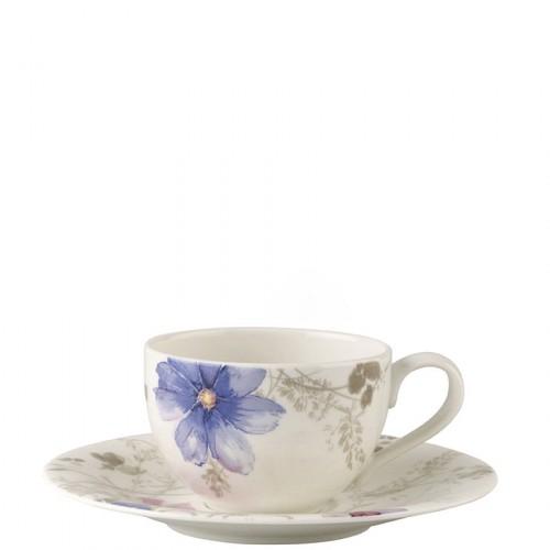 Villeroy & Boch Mariefleur Gris Basic filiżanka do kawy ze spodkiem