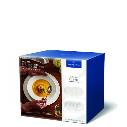 Villeroy & Boch For me zestaw talerzy obiadowych dla 4 osób