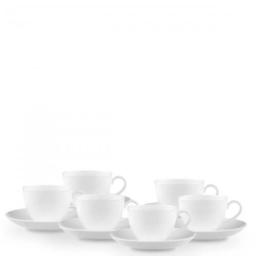 Villeroy & Boch Anmut zestaw filiżanek do kawy ze spodkami, 6 sztuk