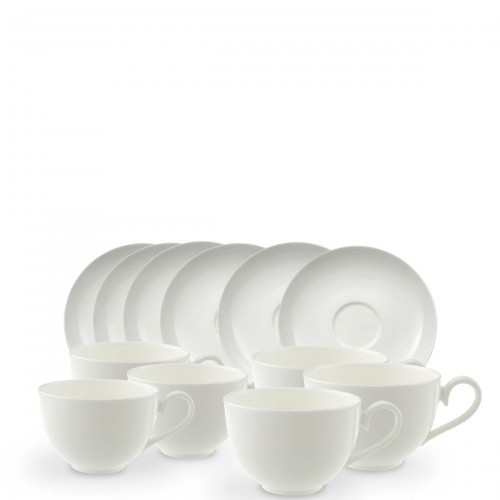 Villeroy & Boch Royal zestaw filiżanek śniadaniowych ze spodkami, 6 sztuk