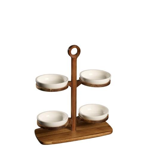 Villeroy & Boch BBQ Passion stojak z 4 miseczkami