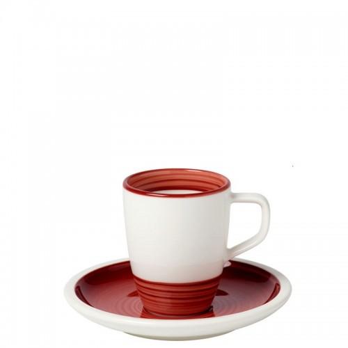 Villeroy & Boch Manufacture Rouge filiżanka do espresso ze spodkiem