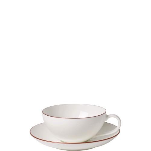 Villeroy & Boch Anmut Rosewood filiżanka do herbaty ze spodkiem