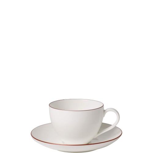 Villeroy & Boch Anmut Rosewood Filiżanka do kawy ze spodkiem