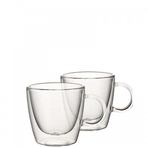Villeroy & Boch Artesano Hot Beverages Zestaw dwóch szklanek z uchem L