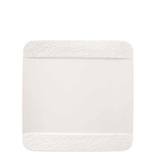 Villeroy & Boch Manufacture Rock Blanc Talerz płaski kwadratowy