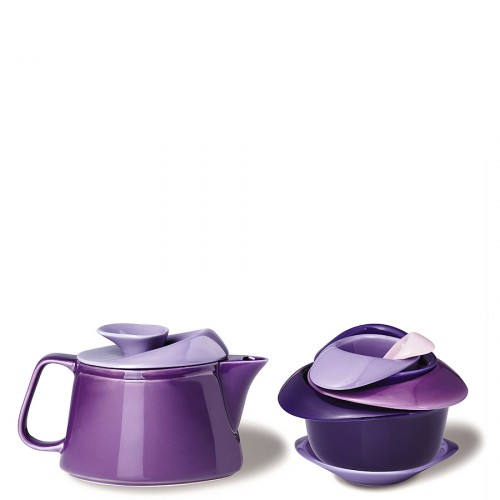 PO: Rose zestaw do herbaty fioletowy