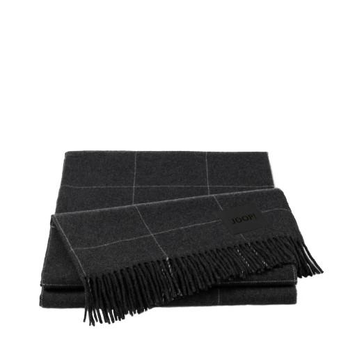 JOOP! Wool Squares Antrazit pled wełniany