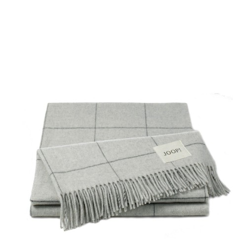 JOOP! Wool Squares Silver pled wełniany