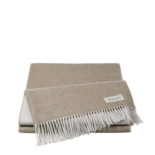 JOOP! Wool Sensual Natur Beige pled wełniano-kaszmirowy