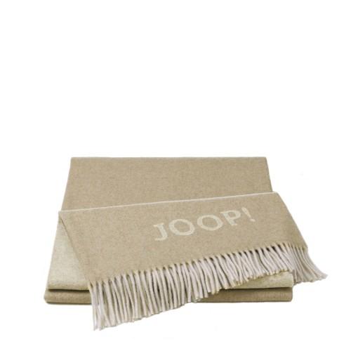 JOOP! Wool Fine Beige pled wełniano-kaszmirowy